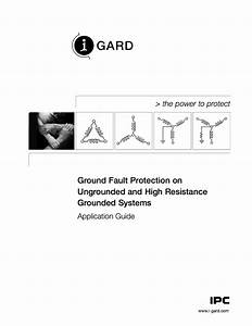 High Resistance Grounding Diagram