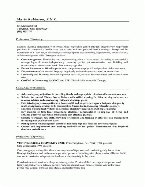 Nursing Resume Model by Sle Resumes Resume Or Nursing Resume