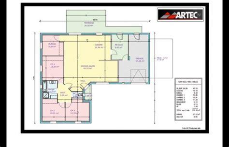 plan maison 3 chambres 1 bureau plan de maison plain pied et maison à étage