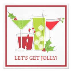 holly jolly christmas cocktail party invitation 5 25 quot square invitation card zazzle