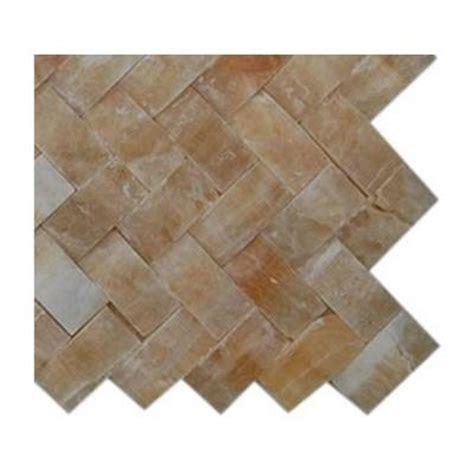 splashback tile honey onyx herringbone 1 in x 3 in