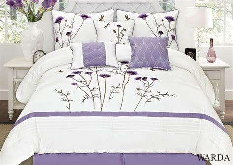 warda 7 piece embroidered comforter set colors lavender