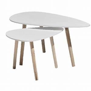 Table D Appoint Salon : table basse gigogne x2 table basse et d 39 appoint salon meuble gifi ~ Melissatoandfro.com Idées de Décoration