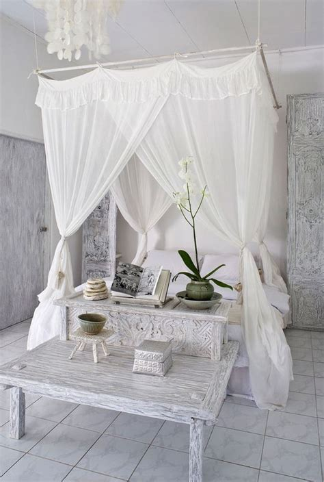 shabby chic canopy bed 33 canopy beds and canopy ideas for your bedroom digsdigs