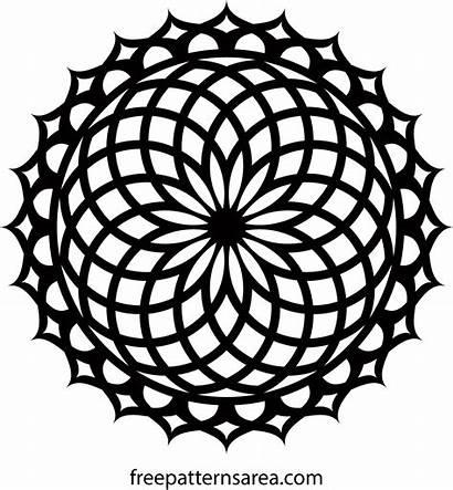 Mandala Geometric Lotus Vector Ornament Pattern Svg