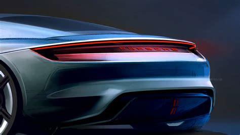 porsche mission  concept design sketch detail car body