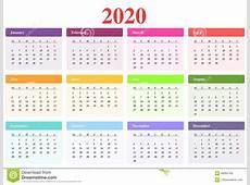 Kalender 2020 vector illustratie Illustratie bestaande