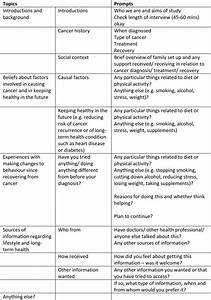 Topic Guide For Qualitative Interviews