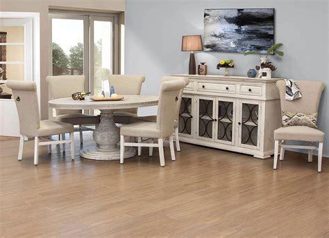 bonanza  dining room set  white ifd furniture