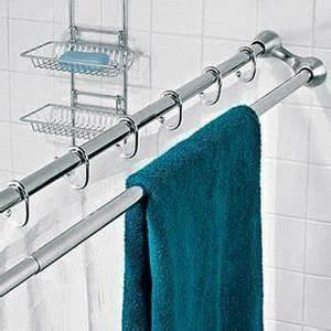 Barre De Rideau Extensible : barre de douche double extensible en inox salle de bain ~ Melissatoandfro.com Idées de Décoration