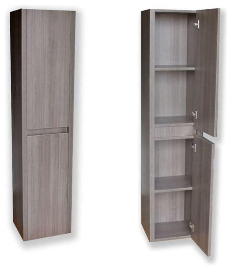 Modern Side Cabinet Grey Oak  Modern  Bathroom Cabinets