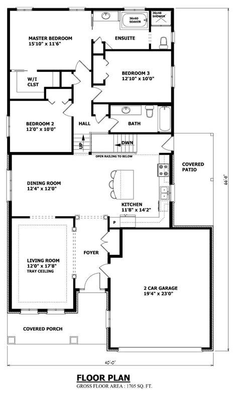 Split Bedroom Floor Plan by House Plans Canada Back Split Architecture In 2019