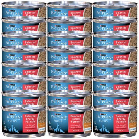 balance cuisine pro purina pro plan focus balance energy canned cat