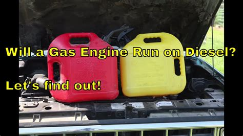 That Is On Gas by Will A Gas Engine Run On Diesel Let S Find Out