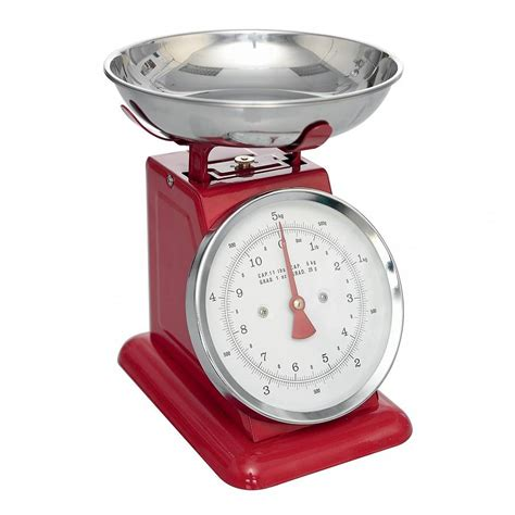 balance cuisine retro retro style enamel kitchen scales by ella