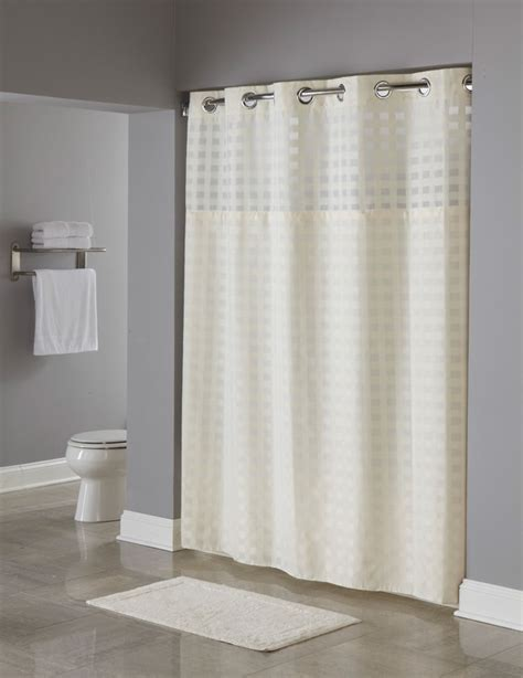 hookless shower curtains basketweave hookless 174 shower curtain doubletree at home