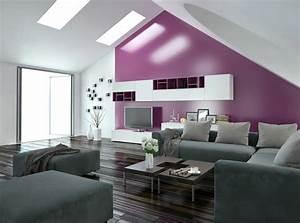 Wohnung einrichten wohnideen fur zimmer mit dachschrage for Markise balkon mit tapeten wohnzimmer modern grau