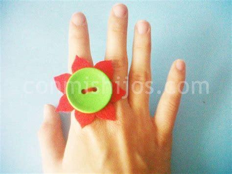 Anillo flor Manualidades de complementos para niñas