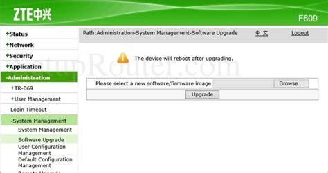 User setelah memasukan username dan password, klik login. Download Firmware Zte F609   CaraNgeflash