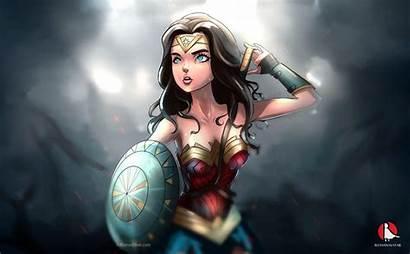 Wonder Woman Cartoon Wallpapers Artwork Anime Laptop