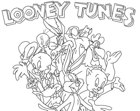 looney tunes coloring pages looney drawings az coloring pages
