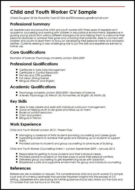 resume examples youth worker examples resume