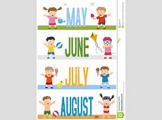 Months Banners With Kids [2] Stock Vector Image 28023710
