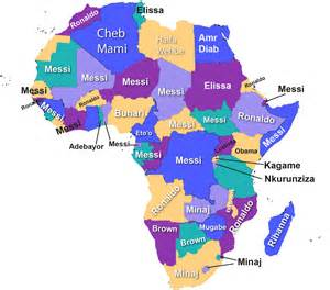 Africa Map with Countries Names