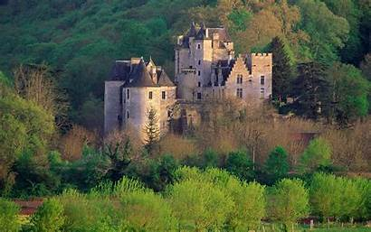 Castle Castles Wallpapers Forest Architecture Grass Background