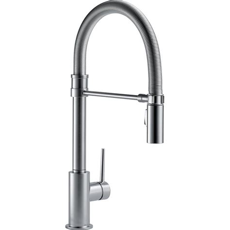 home depot delta kitchen faucets delta trinsic single handle pull sprayer kitchen