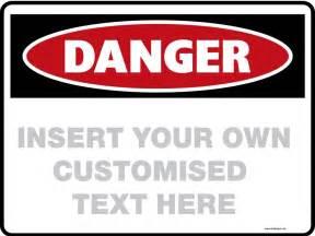 Blank Danger Sign Template