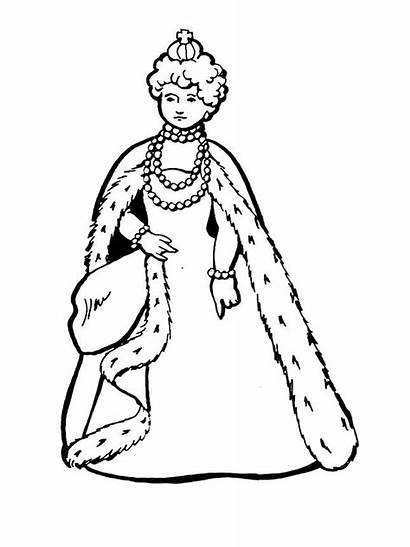 Queen King Pages Coloring Colouring Clipart
