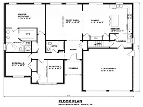house plan no w1837 canadian house plans B