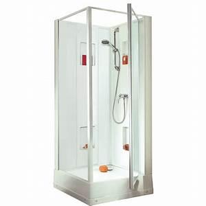 cabine de douche izi box porte pivotante 80x80 l11iz0073 With cabine douche porte pivotante