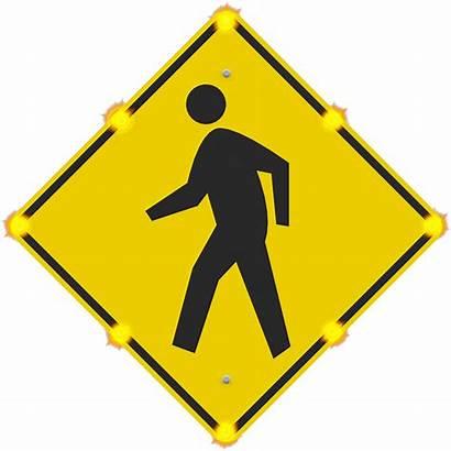 Sign Enhanced Crosswalk Signs Led Flashing Beacon