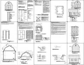 free gambrel shed plans how to build diy blueprints pdf 12x16 12x24 8x10 8x8 10x20