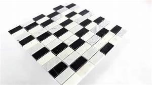 Fliesen Schachbrett Schwarz Weiss : marmor mosaik fliesen schwarz weiss mix youtube ~ Markanthonyermac.com Haus und Dekorationen