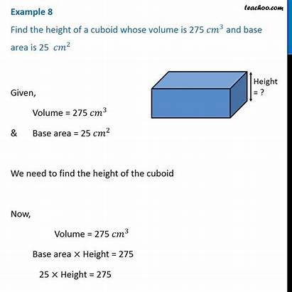 Example Cuboid Volume Examples Height Cm3 Class
