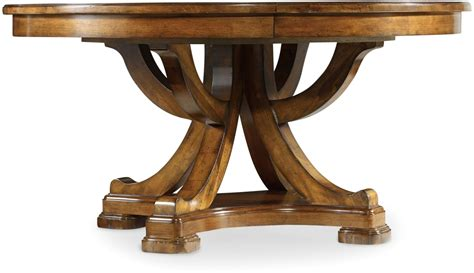 Tynecastle Brown Round Pedestal Extendable Dining Table