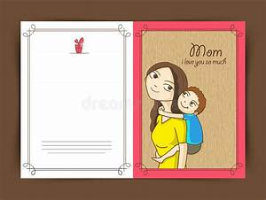 Elegant Greeting Card Design For Happy Mothers Day. Stock ...