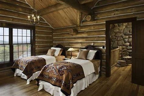 cabin themed decor rustic bedrooms design ideas canadian log homes 1908