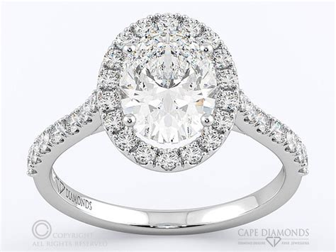 141 classic best oval halo pav 233 cape town engagement ring