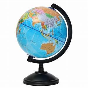 Mini Globe Terrestre : 14cm plastic montessori mini world globe atlas map gift decoration with swivel stand geography ~ Teatrodelosmanantiales.com Idées de Décoration