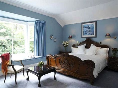 Bedroom Color Schemes With Blue Carpet