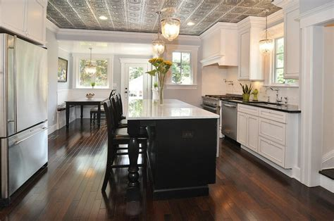 faux metal ceiling tiles traditional style for kitchen