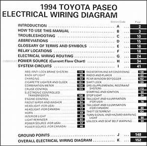 1994 Toyota Paseo Wiring Diagram Manual Original