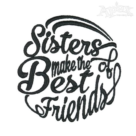 cousins  friends embroidery design