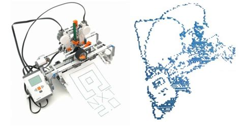 lego mindstorms nxt  drawing robot building
