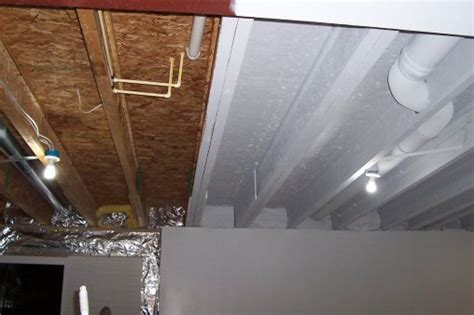 an option instead of drywall or drop ceiling paint it all with an airless sprayer in white to