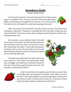 free third grade reading comprehension fiction comprehension worksheets abitlikethis